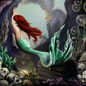 A siren in her grotto - Art by Kerry Brooks